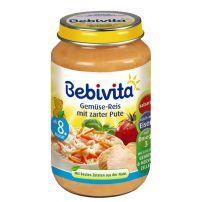 BEBIVITA Пюре зеленчуково ризото с пуешко месо 1044, 220 гр