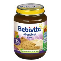 BEBIVITA Млечна каша лека нощ грис и ванилия 1082, 190 гр
