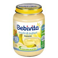 BEBIVITA Пюре йогурт с банан 1091, 190 гр