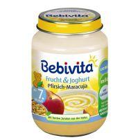 BEBIVITA Пюре йогурт с праскова и маракуя 1092, 190 гр