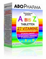 ABOPHARMA А-Z 27 витамина и менирала, 30 табл.