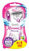 WILKINSON SWORD XTREME3 BEAUTY Дамска самобръсначка за еднократна употреба, 3+1 бр.