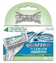 WILKINSON QUATTRO TITANIUM SENSITIVE Резервни ножчета, 2бр.