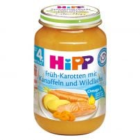 HIPP Пюре сьомга с ранни моркови и картофи 6105, 190 гр