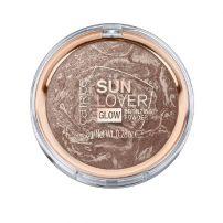 CATRICE SUN LOVER GLOW BRONZING POWDER Пудра бронз теракота 010 sun-kissed bronze, 8 гр.