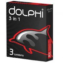 DOLPHI Презервативи 3 in 1, 3 бр.