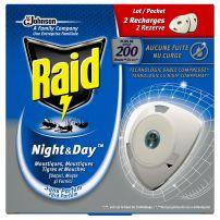 RAID Ден и нощ двоен пълнител против насекоми, 2 бр.