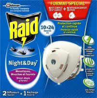 RAID Ден и нощ електрически изпарител + пълнител против насекоми