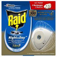 RAID Ден и нощ трио двоен пълнител против насекоми, 2 бр.