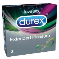 DUREX PERFORMA/EXTENDED PLEASURE Презервативи, 3 бр.