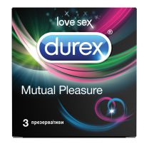 DUREX MUTUAL PLEASURE Презервативи, 3 бр.