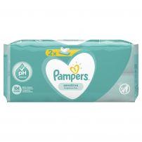 PAMPERS SENSITIVE Бебешки мокри кърпички, 2х52 бр.