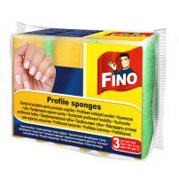 FINO PROFILE SPONGES Кухненска гъба с канал, 3 бр.