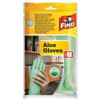 FINOHOUSEHOLD GLOVES Домакински ръкавици размер M ALOE VERA, 1 чифт
