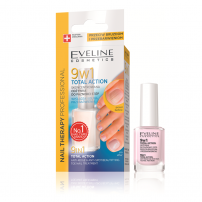 EVELINE FOOT NAILS THERAPY TOTAL ACTION Интензивен заздравител 9в1, 12 мл.