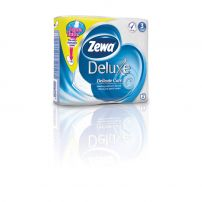 ZEWA DELUXE AQUA TUBE Тоалетна хартия 3 пласта PURE WHITE, 4 бр.