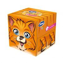 ZEWA 3D ZOOBOX KIDS Кърпички за лице 3 пласта COTTON FIBERS, 60 бр.