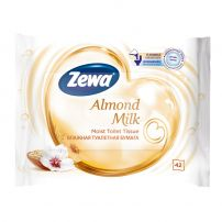 ZEWA INDULGING CLEAN Влажна тоалетна хартия ALMOND MILK, 42 бр.