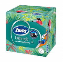 ZEWA DELUXE AROMA COLLECTION Кубче кърпички за лице 3пл., 60 бр.
