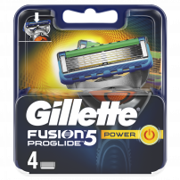 GILLETTE FUSION PROGLIDE POWER Ножчета за бръснене, 4 бр.
