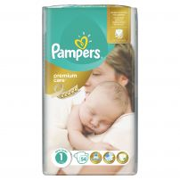 PAMPERS PREMIUM CARE Памперс пелени новородени размер 1, 54 бр.