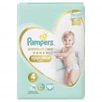 PAMPERS PREMIUM CARE PANTS MAXI 4 Памперс гащи от 9 до 15 кг.