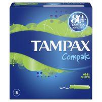 TAMPAX COMPAK Тампони Супер, 8 бр.