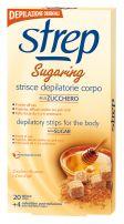 STREP Депилиращи ленти за тяло захар и пчелен восък, 20 бр.