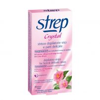STREP CRYSTAL Ленти за депилация за лице и деликатни зони CAMELLIA OIL AND VITAMIN E, 20 бр.