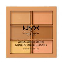 NYX PROFESSIONAL MAKE UP CONCEAL, CORRECT, CONTOURПалитра 3CP02 MEDIUM, 9 гр.