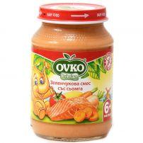 BEBELAN OVKO пюре сьомга със зеленчуци, 190 гр