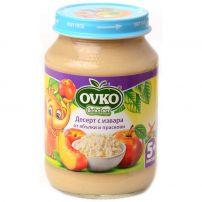 BEBELAN OVKO Десерт ябълки и праскови с извара 5+мес, 190 гр.