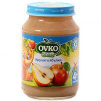 BEBELAN OVKO Пюре круши и ябълки 4+м., 190 гр