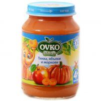 BEBELAN OVKO Пюре тиква, ябълки и моркови 4+мес, 190 гр