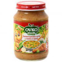 BEBELAN OVKO пюре зеленчукова супа с пилешко, 190 гр
