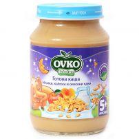 BEBELAN OVKO Млечна каша ябълки, кайсии и овесени ядки, 190 гр