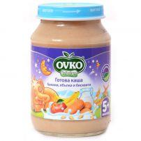 BEBELAN OVKO Млечна каша банан, ябълки и бисквити, 190 гр.