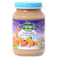 BEBELAN OVKO Млечна каша ябълки, круши и бисквити, 190 гр