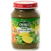 BEBELAN OVKO Пюре спанак с картофи от 4м, 190 гр.