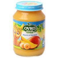 BEBELAN OVKO Пюре манго с банани 4+мес, 190гр