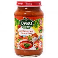 BEBELAN OVKO Пюре доматена супа пиле и ориз 8+м, 220 гр