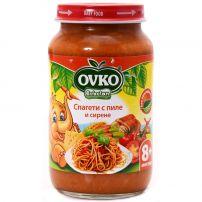 BEBELAN OVKO Пюре спагети с пиле и сирена 8+м, 220 гр.