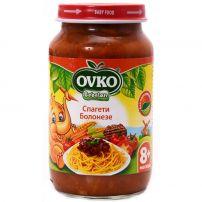 BEBELAN OVKO Пюре меню спагети болонезе 8+м, 220 гр