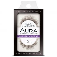 AURA POWER LASHES Изкуствени мигли 01 NATURALY GREAT