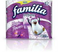 FAMILIA PERFUME Тоалетна хартия 3 пласта MAGIC FLOWER, 4 бр.