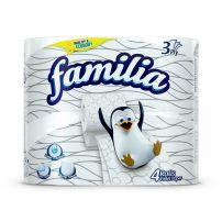 FAMILIA Тоалетна хартия 3 пласта, 4 бр.