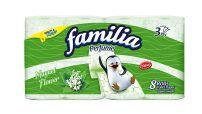 FAMILIA PERFUME Тоалетна хартия 3 пласта LILY OF THE VALLEY, 8 бр.