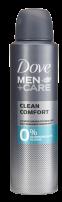 DOVE MEN +CARE Мъжки део спрей Clean comfort 0% алуминий, 150 мл.