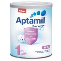MILUPA APTAMIL HA 1 Aдаптирано мляко за кърмачета за превенция на алергии от 0 до 6 м, 400 гр
