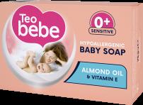 TEO BEBE HYPOALERGENIC Бебешки сапун ALMOND OIL, 75 гр.